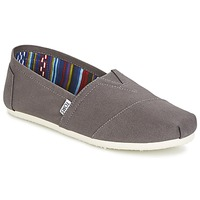 Schuhe Herren Slip on Toms CLASSICS Grau