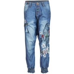 Kleidung Damen Fließende Hosen/ Haremshosen Desigual ANIATINE Blau
