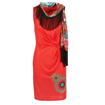 Kleidung Damen Kurze Kleider Desigual USIME Rot
