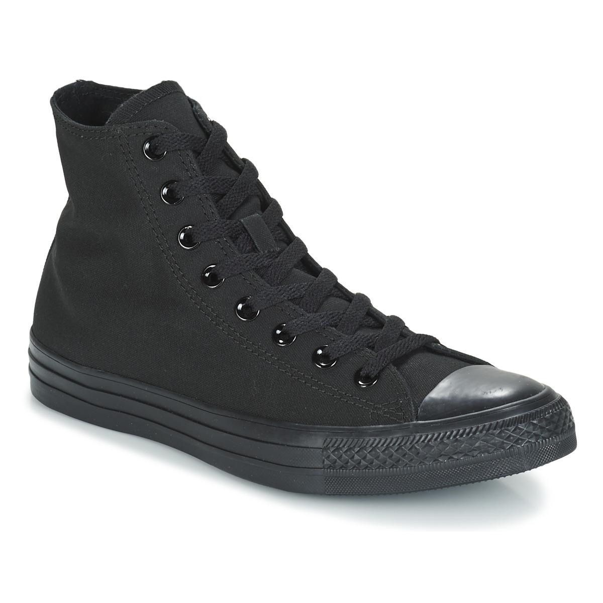 Converse CHUCK TAYLOR ALL STAR MONO HI Schwarz - Kostenloser Versand bei Spartoode ! - Schuhe Sneaker High  55,99 €