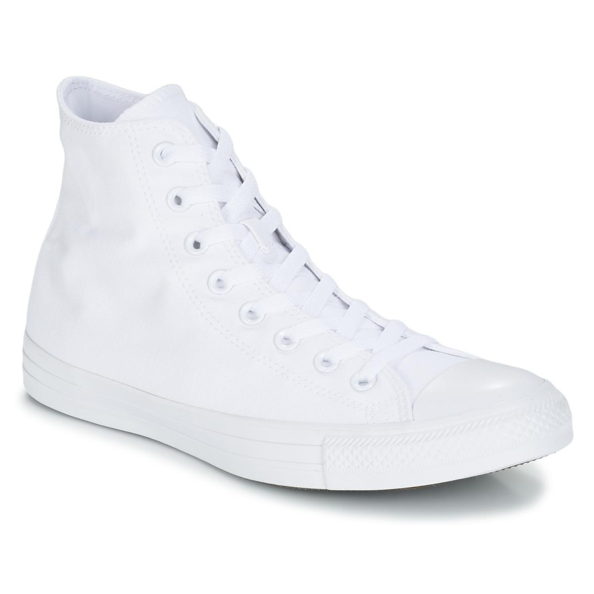 Converse CHUCK TAYLOR ALL STAR MONO HI Weiss - Kostenloser Versand bei Spartoode ! - Schuhe Sneaker High  55,99 €