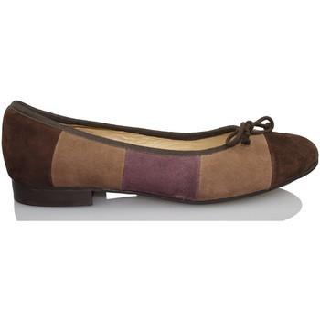 Schuhe Damen Ballerinas Sandra Stylo COCOO BRAUN