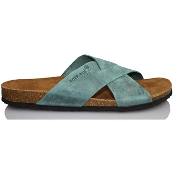 Schuhe Herren Pantoffel Interbios Sehr komfortable Sandale Mann BLAU