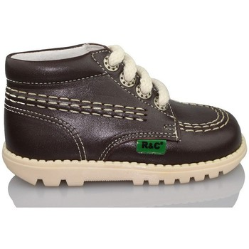 Schuhe Jungen Boots Rubio Y Castaño RUBIO Y CASTANO NAPA RALLYA BRAUN