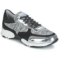 Schuhe Damen Sneaker Low Meline AMAL Schwarz / Weiss / Grau