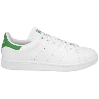 Schuhe Kinder Sneaker adidas Originals STAN SMITH J BLANC