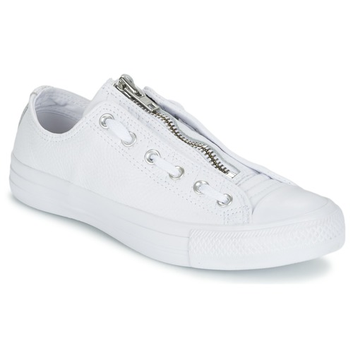 Schuhe Herren Sneaker Low Converse CHUCK TAYLOR ALL STAR MA-1 ZIP MILITARY LEATHER OX Weiss
