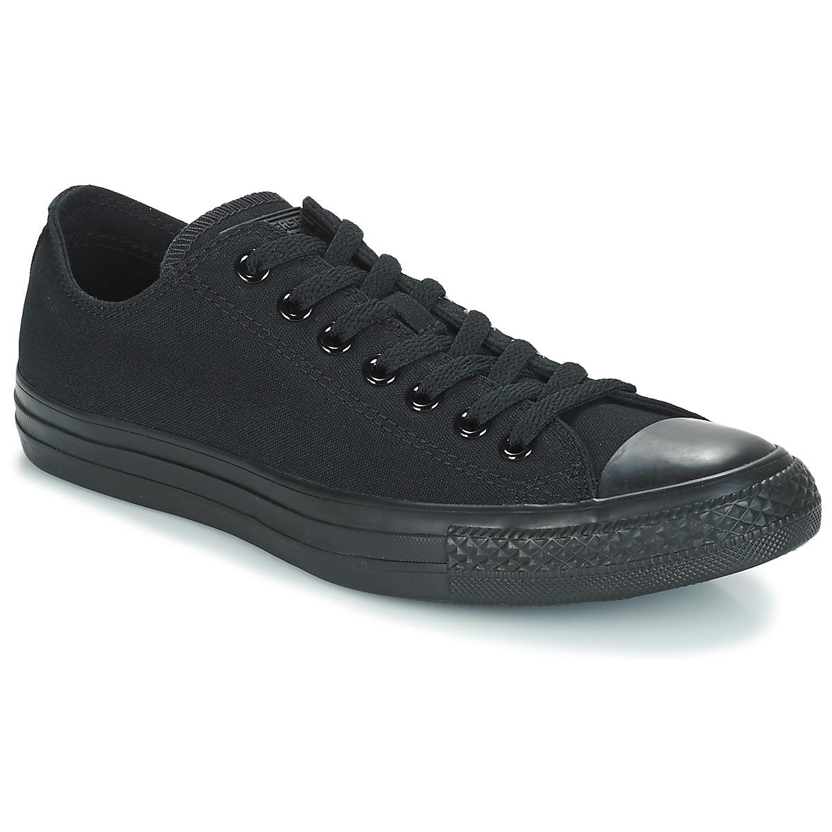 Converse CHUCK TAYLOR ALL STAR MONO OX Schwarz - Kostenloser Versand bei Spartoode ! - Schuhe Sneaker Low  51,99 €
