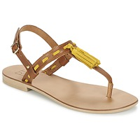 Schuhe Damen Sandalen / Sandaletten Betty London ELOINE Braun / Gelb