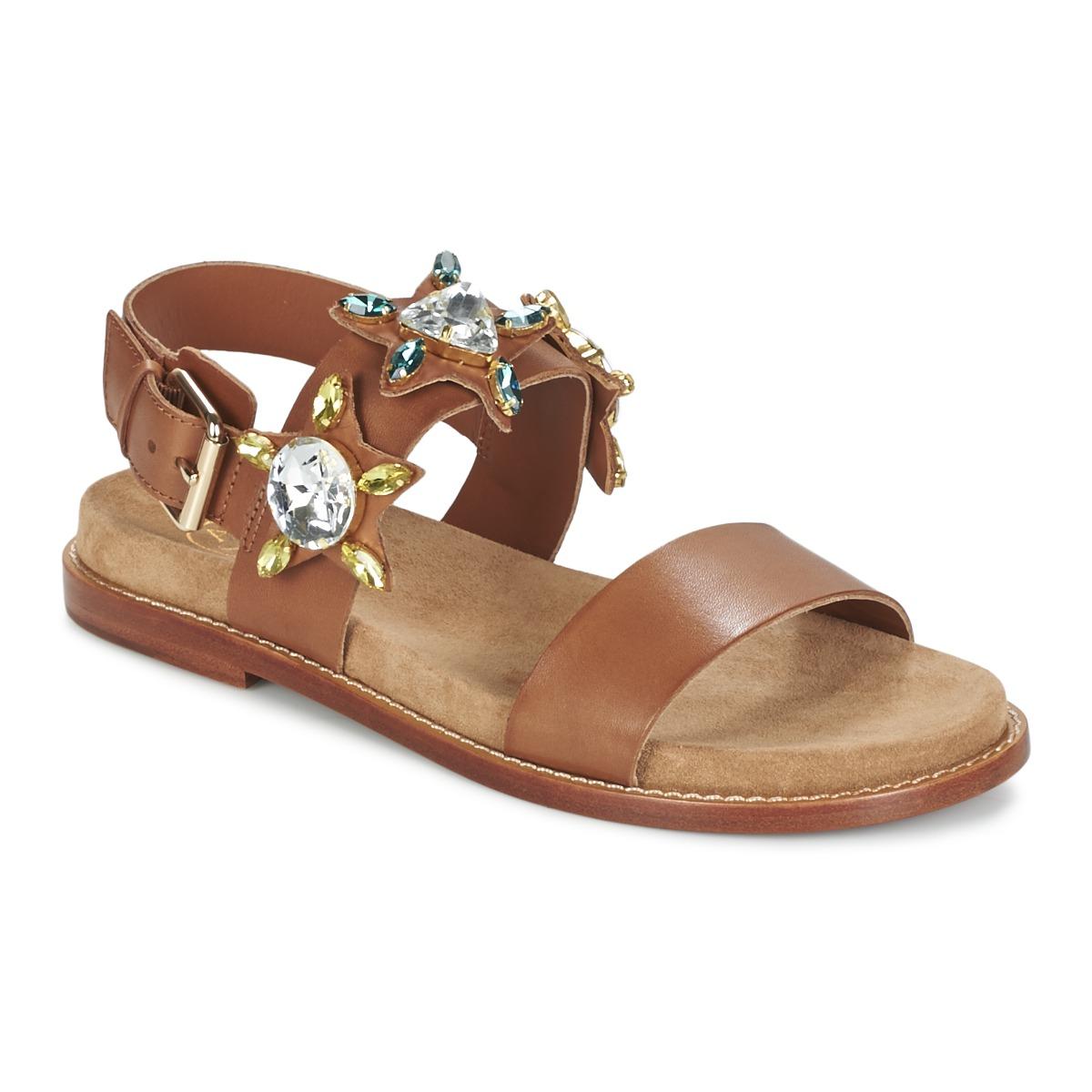 Ash MALIBU Camel - Kostenloser Versand bei Spartoode ! - Schuhe Sandalen / Sandaletten Damen 112,50 €