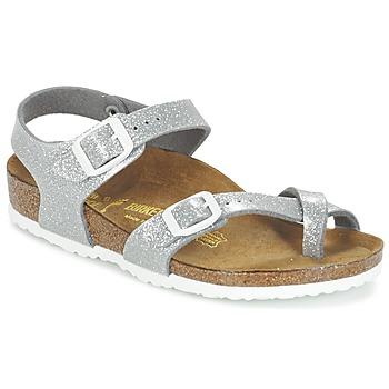 Schuhe Mädchen Sandalen / Sandaletten Birkenstock TAORMINA Silbern