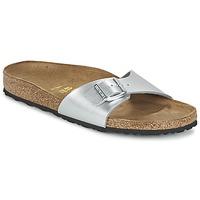 Schuhe Damen Pantoffel Birkenstock MADRID Silbern