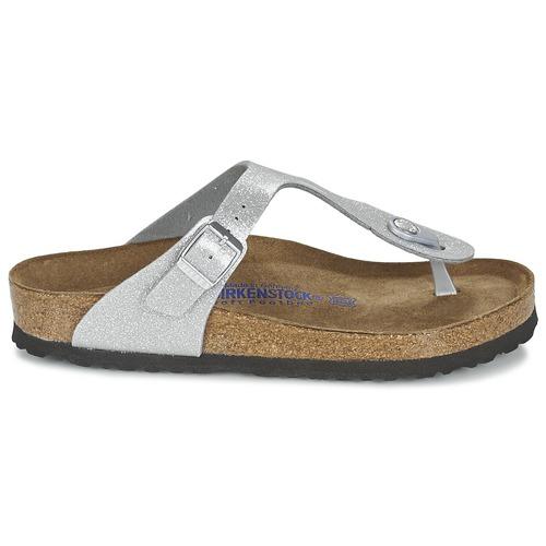 Birkenstock GIZEH Damen Silbern  Schuhe Zehensandalen Damen GIZEH 55,99 8ec563