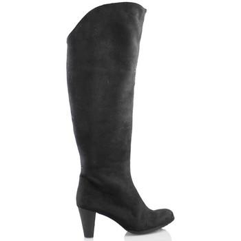 Schuhe Damen Klassische Stiefel Elia Bruni MICRO SCHWARZ