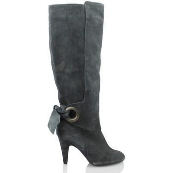 Schuhe Damen Klassische Stiefel Elia Bruni GRAS GRAFITO GRAU