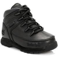 Schuhe Jungen Boots Timberland Enfant Noir Euro Sprint Bottes En Cuir Timberland_535
