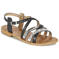 Schuhe Damen Sandalen / Sandaletten Les Tropéziennes par M Belarbi HAPAX Schwarz / Silbern