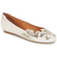 Schuhe Damen Ballerinas Betty London ERUNE Weiss / Silbern
