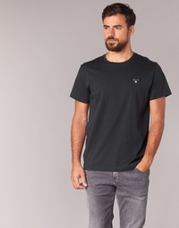 Kleidung Herren T-Shirts Gant THE ORIGINAL SOLID T-SHIRT Schwarz