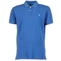 Kleidung Herren Polohemden Gant CONTRAST COLLAR PIQUE Blau