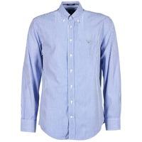 Kleidung Herren Langärmelige Hemden Gant THE POPLIN BANKER STRIPE Blau