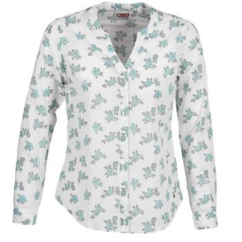 Kleidung Damen Hemden Mustang FLOWER BLOUSE Weiss / Blau