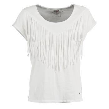 Kleidung Damen T-Shirts Mustang FRINGE Weiss