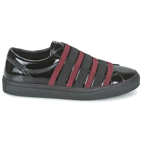 Sonia Rykiel SONIA BY - SLIPPINOI Schwarz / Bordeaux  Schuhe Slip on Damen 159,50