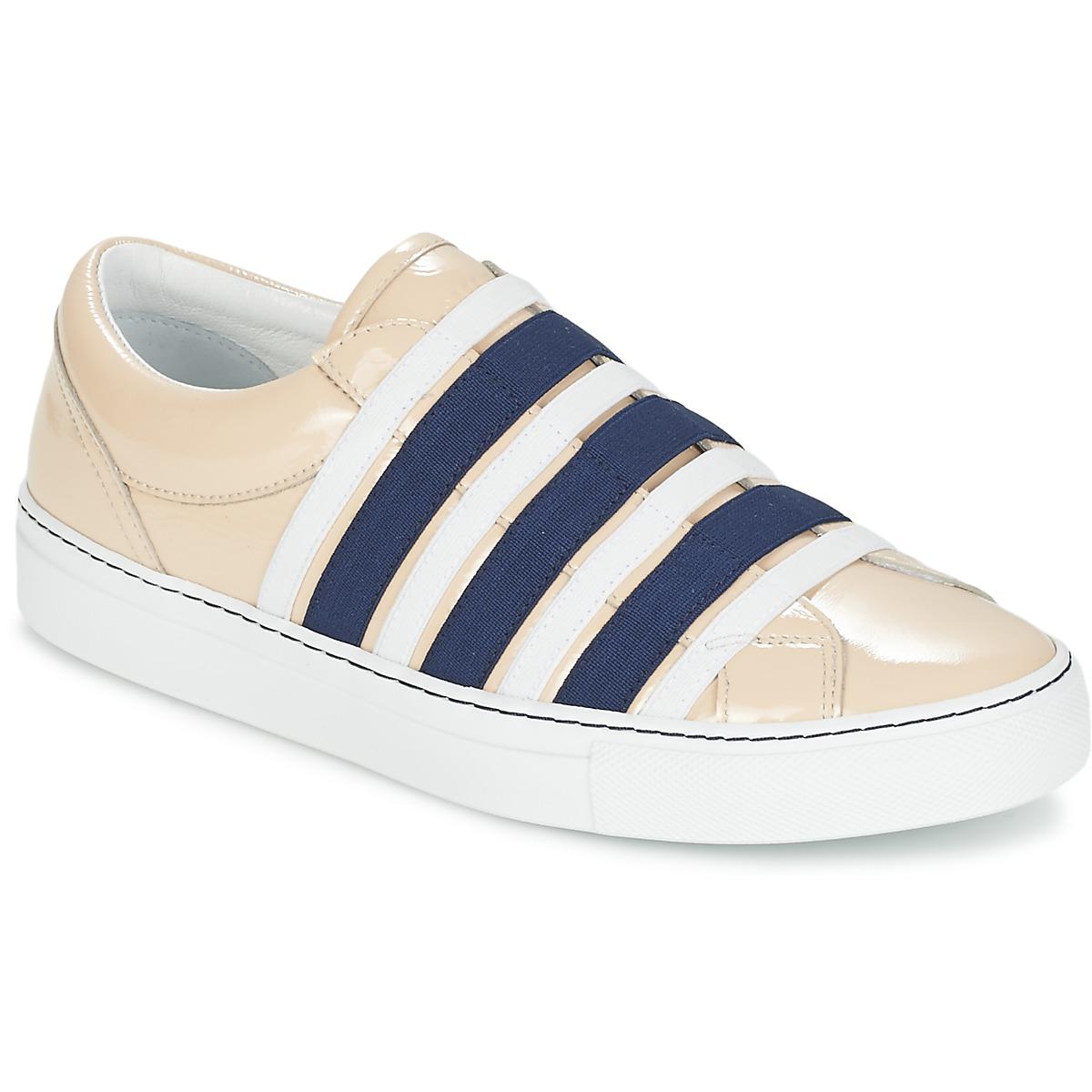 Sonia Rykiel SONIA BY - SLIPPINETTE Beige / Marine - Kostenloser Versand bei Spartoode ! - Schuhe Slip on Damen 159,50 €