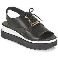 Schuhe Damen Sandalen / Sandaletten Love Moschino BASIC SANDAL Schwarz / Weiss