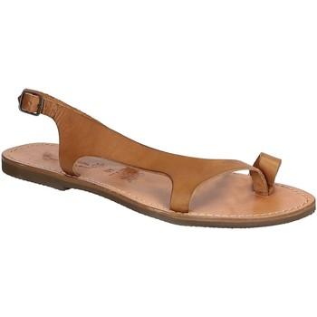 Schuhe Herren Sandalen / Sandaletten Gianluca - L'artigiano Del Cuoio 526 D CUOIO GOMMA Cuoio
