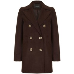 Kleidung Damen Mäntel Anastasia Wollmantel Winter Pea Mantel Brown