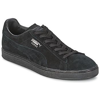 Schuhe Sneaker Low Puma SUEDE CLASSIC Schwarz / Grau