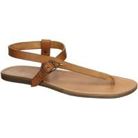 Schuhe Damen Sandalen / Sandaletten Gianluca - L'artigiano Del Cuoio 592 U CUOIO GOMMA Cuoio