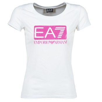Kleidung Damen T-Shirts Emporio Armani EA7 BEAKON Weiss