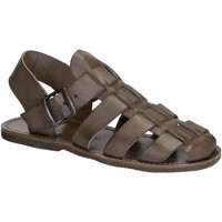 Schuhe Damen Sandalen / Sandaletten Gianluca - L'artigiano Del Cuoio 502 U FANGO GOMMA Fango