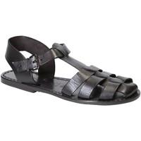 Schuhe Damen Sandalen / Sandaletten Gianluca - L'artigiano Del Cuoio 501 D NERO CUOIO nero