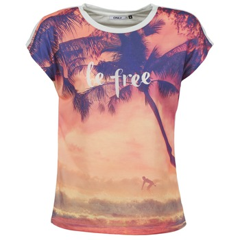 Kleidung Damen T-Shirts Only BE FREE SUMMER Multifarben