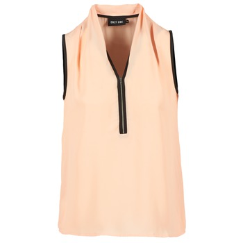 Kleidung Damen Tops / Blusen Only FIA ZIP Orange / Pastel / Schwarz
