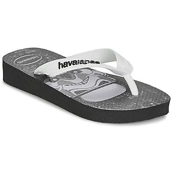 Schuhe Jungen Zehensandalen Havaianas STAR WARS Schwarz / Weiss