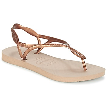 Schuhe Damen Zehensandalen Havaianas LUNA Bronze