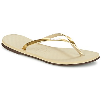 Schuhe Damen Zehensandalen Havaianas YOU METALLIC Gold