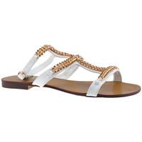 Schuhe Damen Sandalen / Sandaletten F. Milano KnöchelKettesandale Weiss