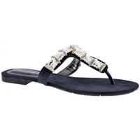 Schuhe Damen Zehensandalen F. Milano Ciabatta-Perlen flip flop zehentrenner
