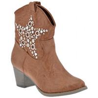 Schuhe Damen Low Boots F. Milano TexanHeel60halbstiefel Beige