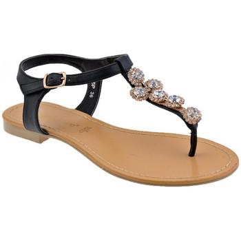 Schuhe Damen Zehensandalen F. Milano Steine ??und Strass flip flop zehentrenner