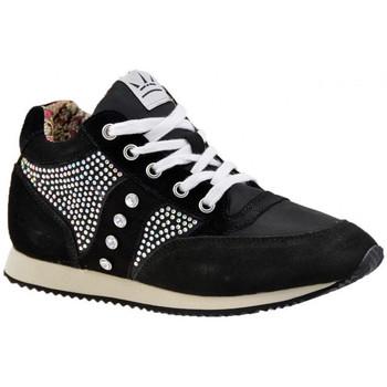 Schuhe Damen Sneaker High F. Milano SportStrassLässigesneakers Schwarz