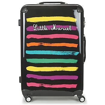 Taschen Hartschalenkoffer Little Marcel MALTE-75 Schwarz / Multifarben