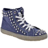 Schuhe Damen Sneaker High F. Milano Midgeschraubtsportstiefel Blau
