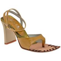 Schuhe Damen Zehensandalen Nci Tacco 90 flip flop zehentrenner Braun